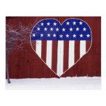 Barras y estrellas en forma de corazón postales