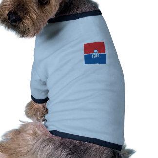 Barras y estrellas Fred Camiseta Con Mangas Para Perro