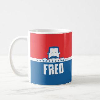 Barras y estrellas Fred Tazas De Café