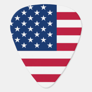 Barras y estrellas frescas de la bandera americana uñeta de guitarra