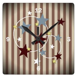 Barras y estrellas frescas del circo del vintage relojes
