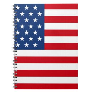 Barras y estrellas los E.E.U.U. Libretas