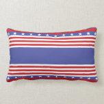 Barras y estrellas patrióticas almohadas