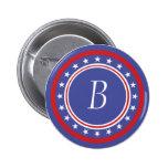 Barras y estrellas patrióticas - con el monograma pin
