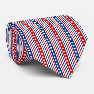 Barras y estrellas patrióticas corbatas