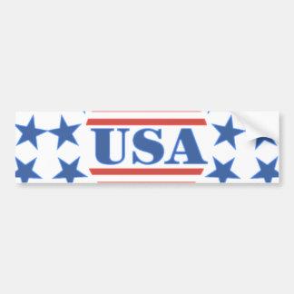 Barras y estrellas patrióticas de los E.E.U.U. Pegatina De Parachoque