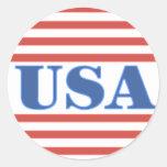 Barras y estrellas patrióticas de los E.E.U.U. Etiquetas Redondas