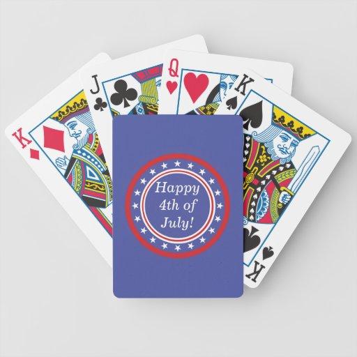 Barras y estrellas patrióticas - felices el 4 de j barajas de cartas
