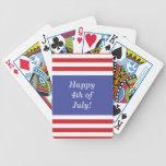 Barras y estrellas patrióticas - felices el 4 de j baraja