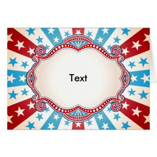 Barras y estrellas patrióticas tarjeta de felicitación