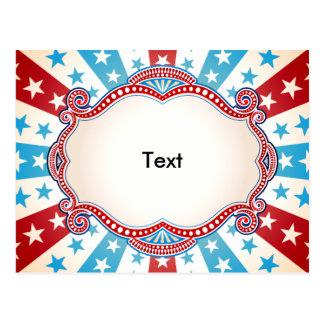 Barras y estrellas patrióticas tarjetas postales
