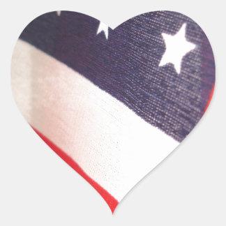 Barras y estrellas pegatina en forma de corazón