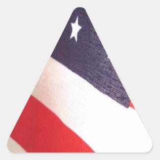 Barras y estrellas pegatina triangular