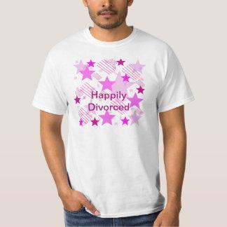 Barras y estrellas rosadas divorciadas feliz playera