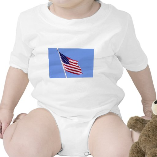 Barras y estrellas trajes de bebé