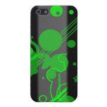 Barras y estrellas - verde iPhone 5 protector