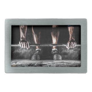 Barras y tiza - impresión del levantamiento de hebilla de cinturon rectangular