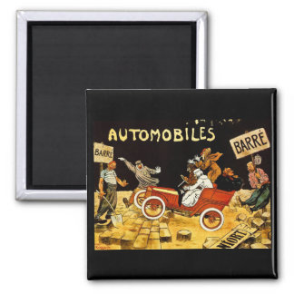 Barre Automobiles - Vintage Advertisement Poster 2 Inch Square Magnet