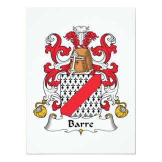 Barre Family Crest Invitations