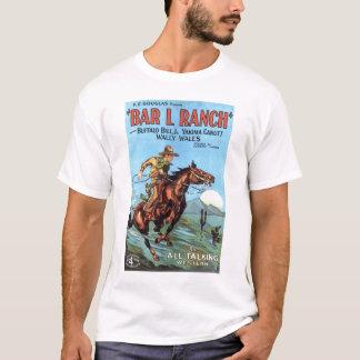 """""""Barre L camiseta 1930 del cartel de película del"""