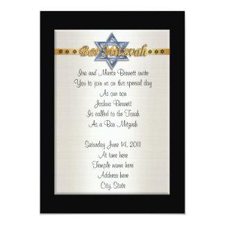 Barre la estrella azul formal de la invitación de