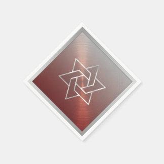 Barre la estrella de Mitzvah/de Mitzvah del palo Servilleta De Papel