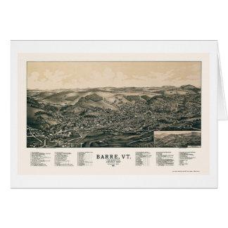 Barre, VT Panoramic Map - 1891 Greeting Card