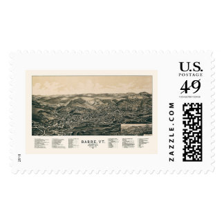 Barre, VT Panoramic Map - 1891 Stamps