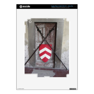 Barred door . Medieval crossed spears and shield iPad 3 Decals