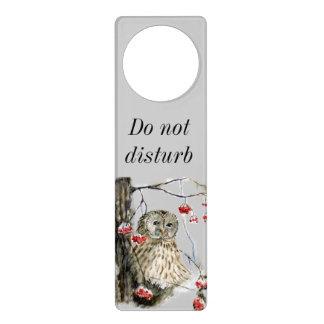 Barred Owl - do not disturb Door Hanger