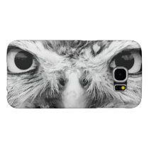 Barred Owl in Black and White Samsung Galaxy S6 Case