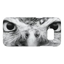 Barred Owl in Black and White Samsung Galaxy S7 Case