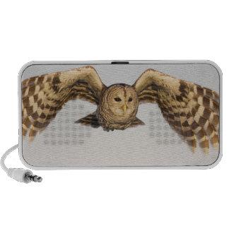 Barred Owl in Flight Notebook Speakers