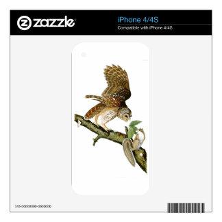 Barred Owl John James Audubon Birds of America Skin For iPhone 4