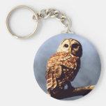 Barred Owl Keychain
