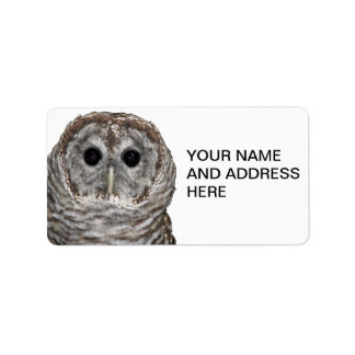 Barred Owl Label