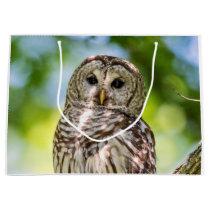 Barred Owl Large Gift Bag
