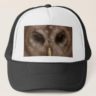 Barred owl painted art trucker hat