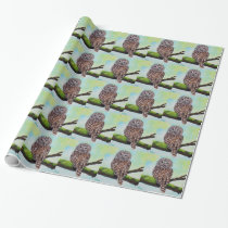Barred Owl Painting Wrapping Paper