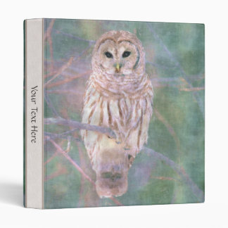 Barred Owl Pastel Oilpainting Binder