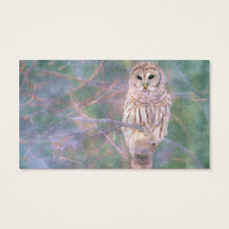 Barred Owl Pastel Oilpainting Business Card