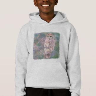 Barred Owl Pastel Oilpainting Hoodie