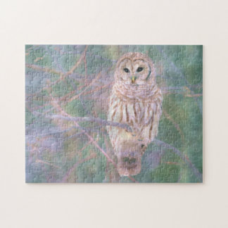 Barred Owl Pastel Oilpainting Jigsaw Puzzle