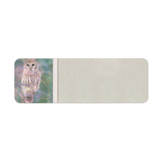 Barred Owl Pastel Oilpainting Label