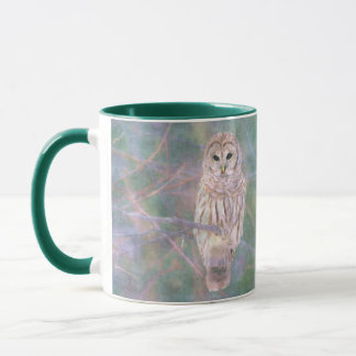 Barred Owl Pastel Oilpainting Mug