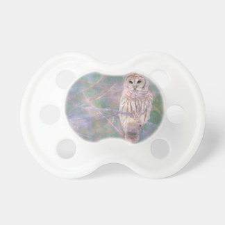 Barred Owl Pastel Oilpainting Pacifier