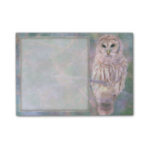 Barred Owl Pastel Oilpainting Post-it Notes