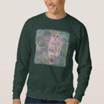 Barred Owl Pastel Oilpainting Sweatshirt
