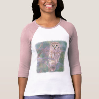 Barred Owl Pastel Oilpainting T-Shirt