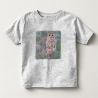 Barred Owl Pastel Oilpainting Toddler T-shirt